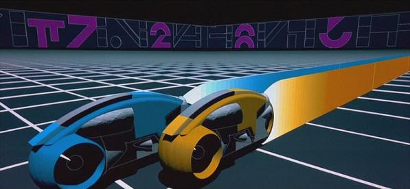 The Atari Game Neon Race Car