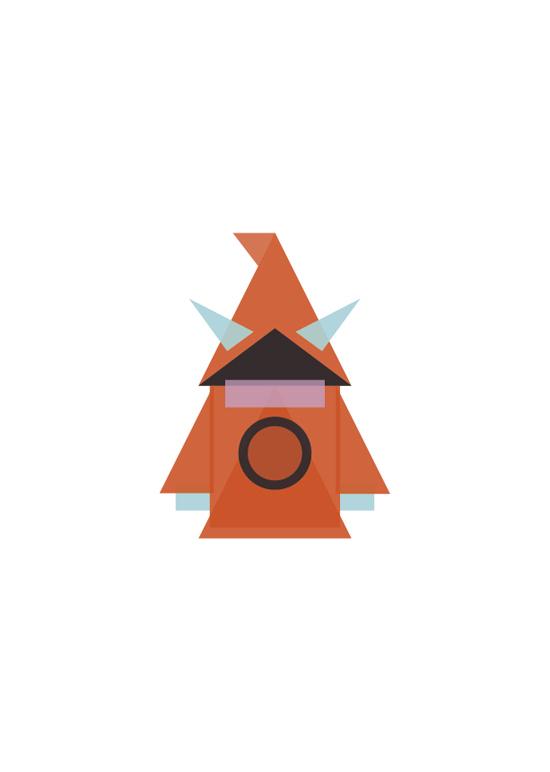 Gorpo e Robocop minimalistas